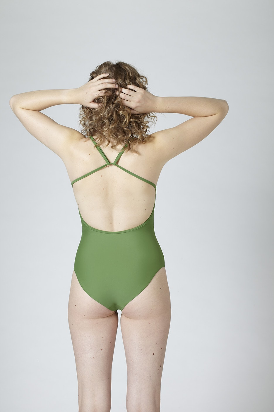 MARGARET AND HERMIONE_Swimsuit No.2_green_hinten_EUR 154,00