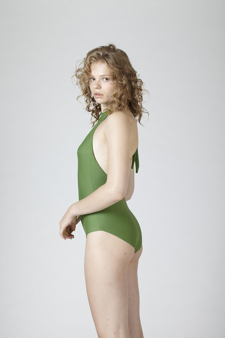 MARGARET AND HERMIONE_Swimsuit No.4_green_hinten_EUR 157,00