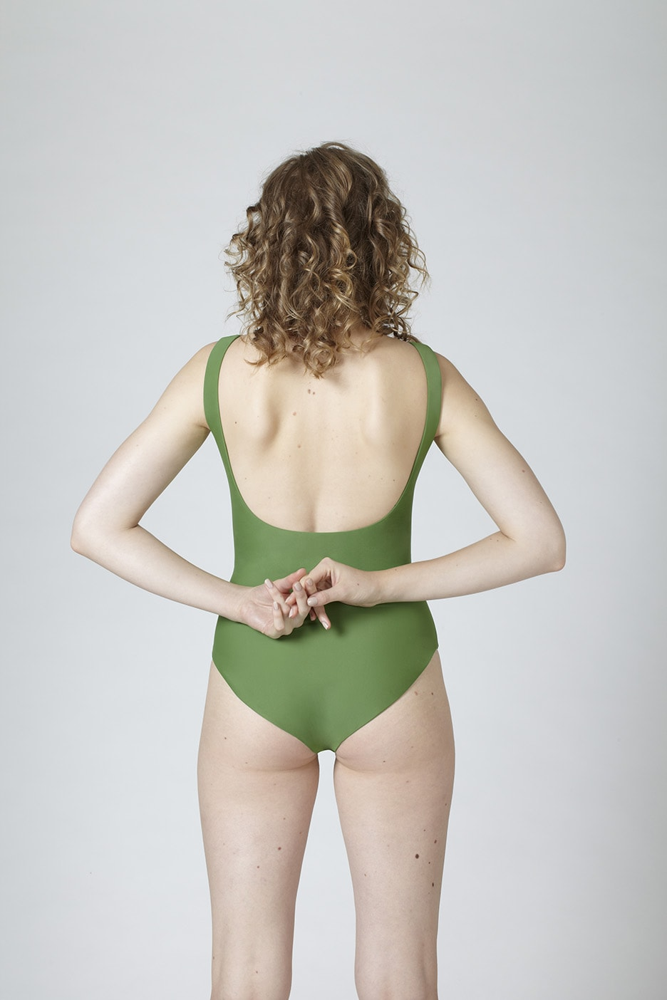 MARGARET AND HERMIONE_Swimsuit No.5_green_hinten_EUR 159,00